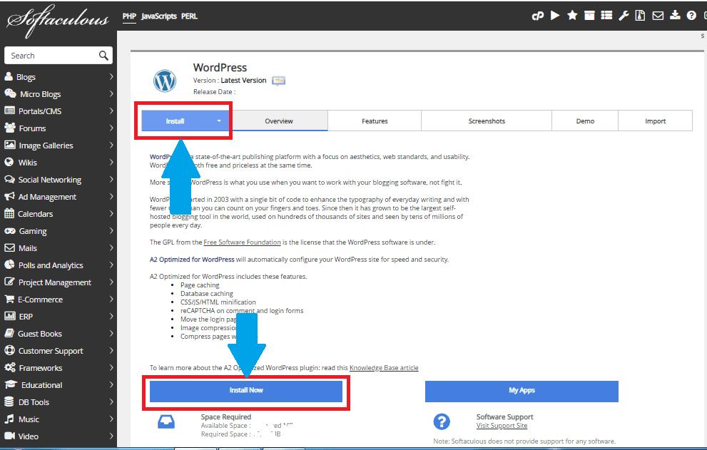 यहाँ आपको install Now पे क्लिक करना है.