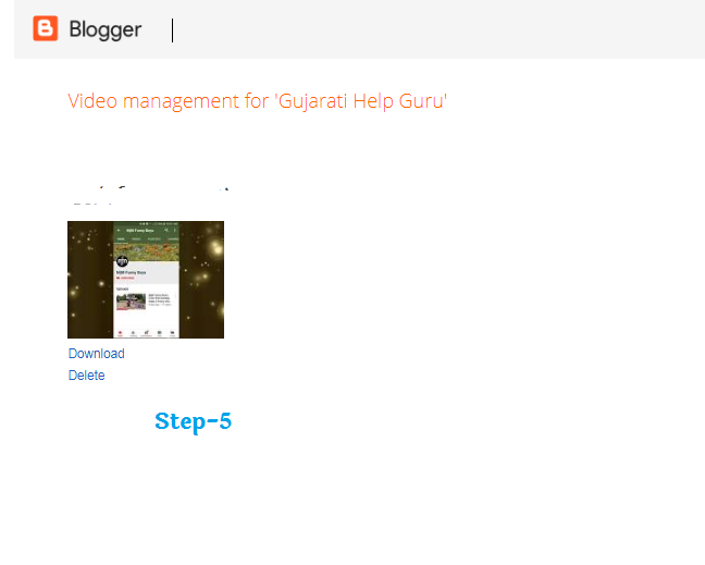 How To Delete Blogger Blog Uploaded Video in Hindi