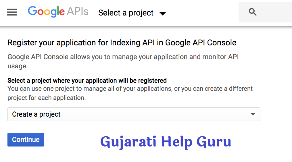 Go to the Google API Console and create a new project