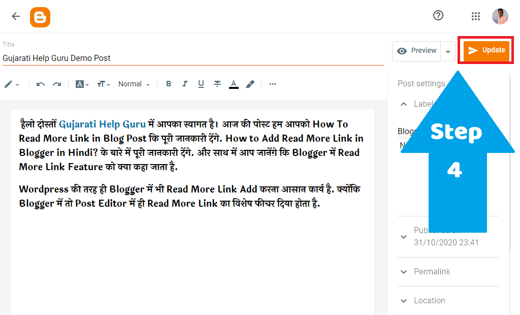 Blogger Blog Post Edit